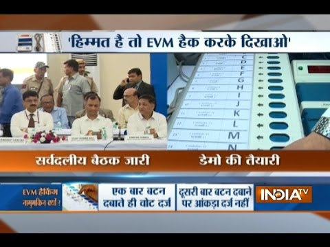 ECI officer displays a detailed presentation on EVM security features