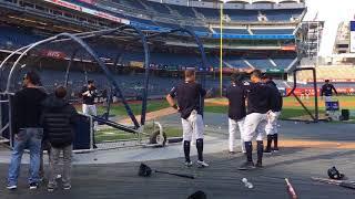 Yankees' Brandon Drury's 1st BP since headache scare