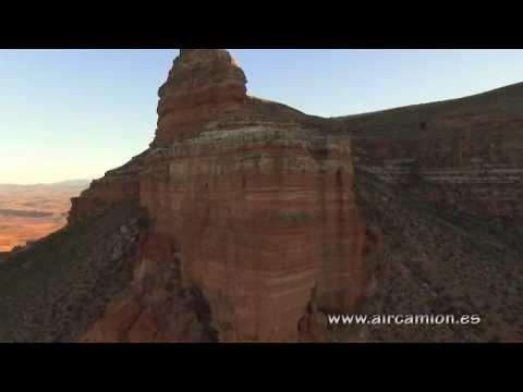 Sierra de Armantes. Multicopter  Aircamlon climbing drone