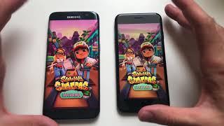 Samsung s7 edge (8.0) vs iPhone 7 (11.4.1) .