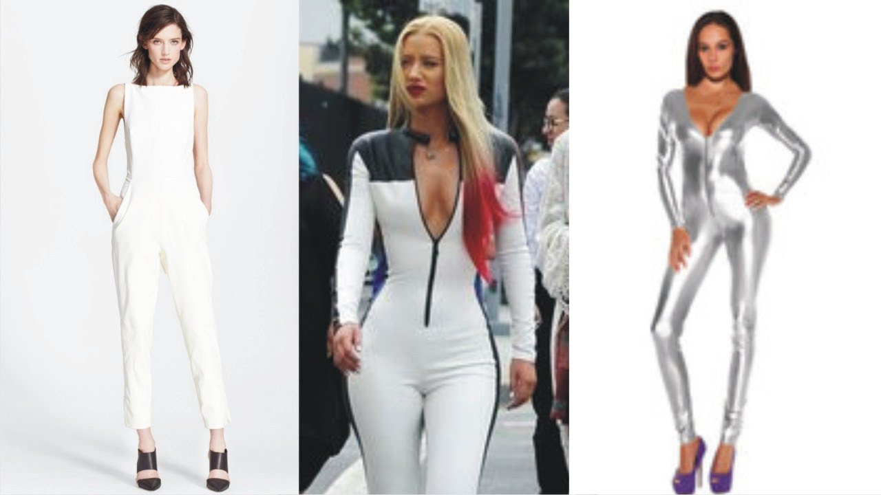 6057bdd79afb Stunning White Leather Jumpsuit For Active Women - YouTube