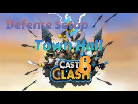 Town Hall Level 8 Defense Setup: Castle Clash