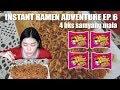 4 BUNGKUS MALA SAMYANG MUKBANG || Instant Ramen Adventure Ep. 6
