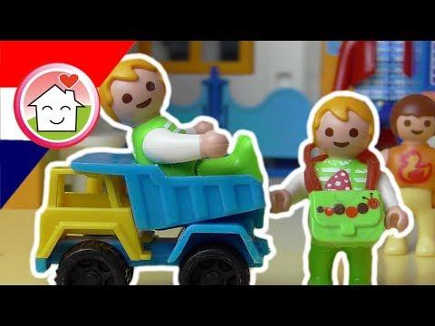 playmobil filmpje nederlands wendag op de kleuterschool - familie
