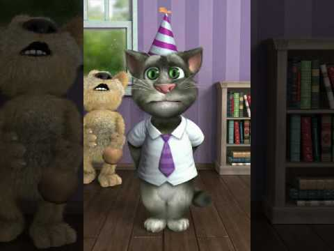 Talking Tom Cat free message - let Tom create a personalised birthday message for you