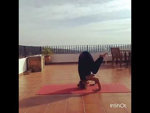from kakasana  crow pose to shirshasana headstand