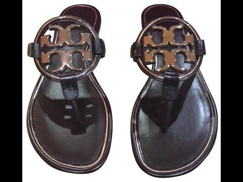 fa19f4c42b55  Toryburchmillersandals Tory Burch metal miller sandals Malbec rose gold  unboxing