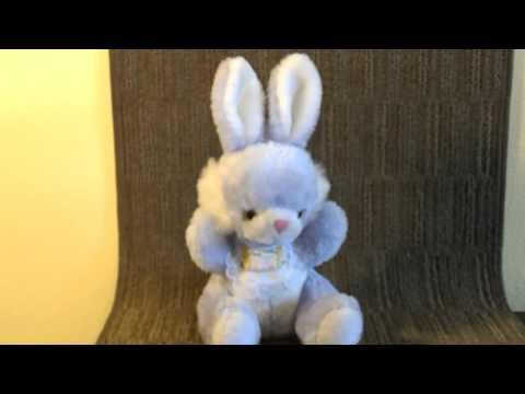 Purple Lavender Plush Rabbit Music Box by Union Toy