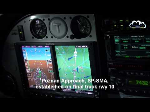 Night VOR/DME approach runway 10 Poznań-Ławica - EPPO