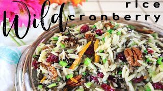 Orzo Wild Rice Cranberry Summer Salad THE BEST BBQ SIDE Dish  Vegan  Healthy Fruit &amp Nut Recipes