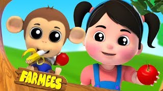 I like to eat Apples and Bananas Song & More Nursery Rhymes for Kids