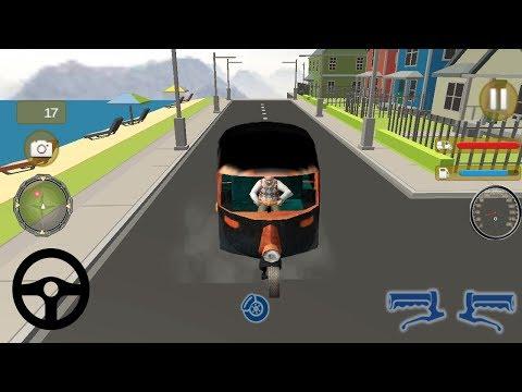 Tuk Tuk Auto Rickshaw Old Uncle Driving Game || Tuk Tuk Auto Rickshaw Game || Kids Rickshaw Racing