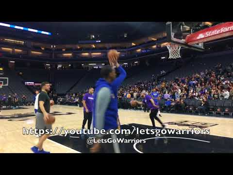 Steph Curry pregame routine (2-ball returns!) at Golden 1 Center in Sacramento