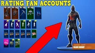 RATING FORTNITE FAN ACCOUNTS! (Fortnite Rare Accounts!)