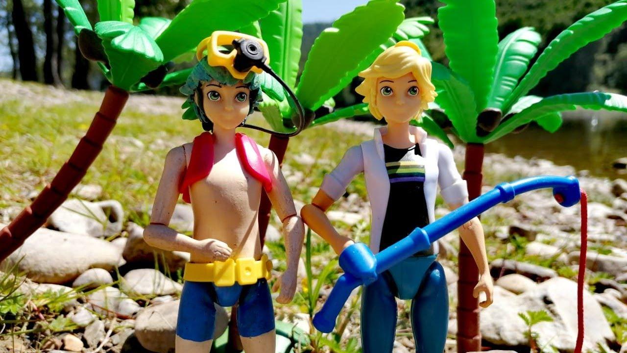Кто круче: Лука дайвер или Адриан рыбак. Видео из игрушек Леди Баг и Супер-кот
