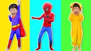 슈퍼히어로 놀이 Superhero pretend play for kids - 로미유 스토리 Romiyu Story