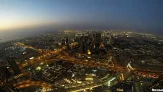 GOPRO TIMELAPSE DUBAI BURJ KHALIFA ON THE TOP SUNSET