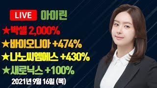 [MTNW] ▶아이린◀ 박셀 2천% 바이오니아 +474% 나노씨엠에스 +430% 새로닉스 +100%
