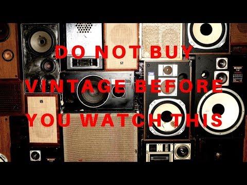 BEWARE Of These 5 Things Before Buying Vintage/used Speakers