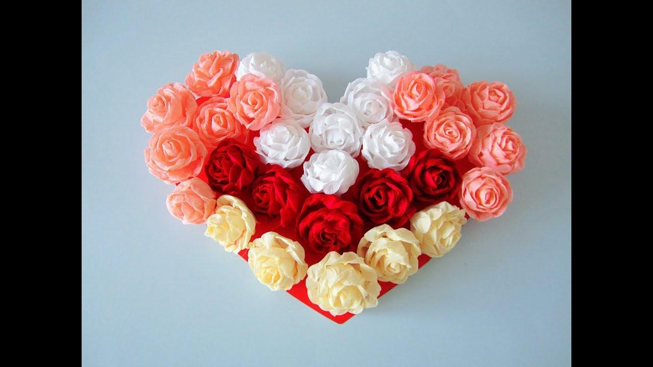 DIY: Rosen-Herz/ Rose Heart - YouTube