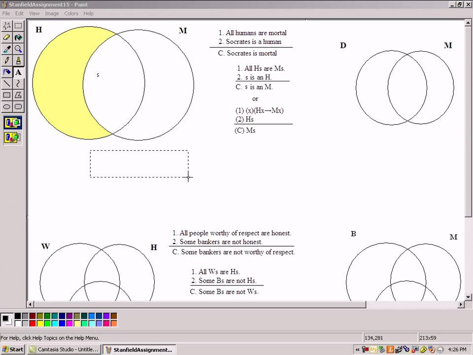 2 Circle Venn Diagram Exampleavi Youtube