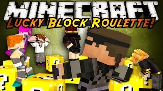 minecraft modded mini game lucky block roulette 2