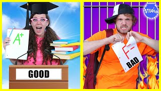 Back to School! GOOD Student vs BAD Student!