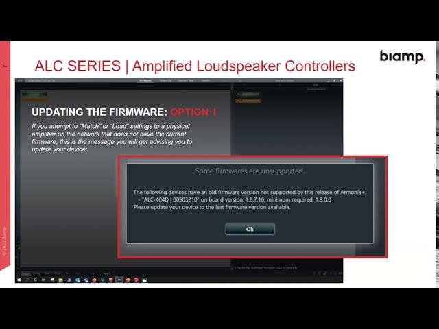 Webinar: Amplified Loudspeaker Controllers Firmware Update 1.9.0.14