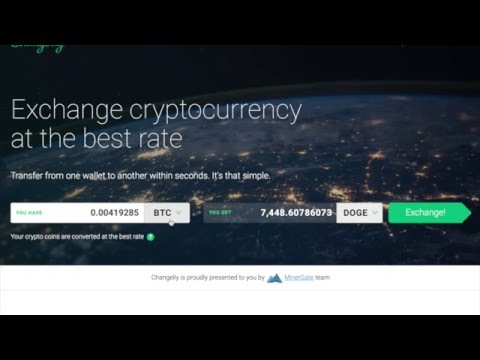 Exchanging Bitcoin to Dogecoin on Changelly