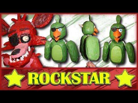 How to Make: Rockstar Foxy's Parrot Puppet (FNAF 6)