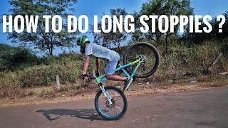 How to do longer stoppies ! [ ABHISHEK SINGH ]