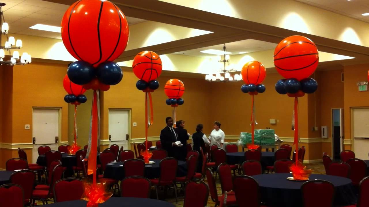 Giant Basket Ball Balloon Centerpieces YouTube