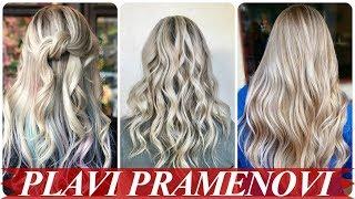 Moderne pramenovi na plavu kosu