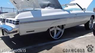 "Ivys 75 Caprice Donk Vert on 28"" Amani Forged Wheels @ Stuntfest 2k15"