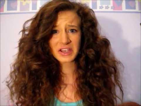 curly hair series messy bun