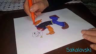 Temel Reis ve Kaba Sakal çizim how to draw