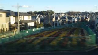 北野~京王片倉駅、京王線、進行方向左側車窓から