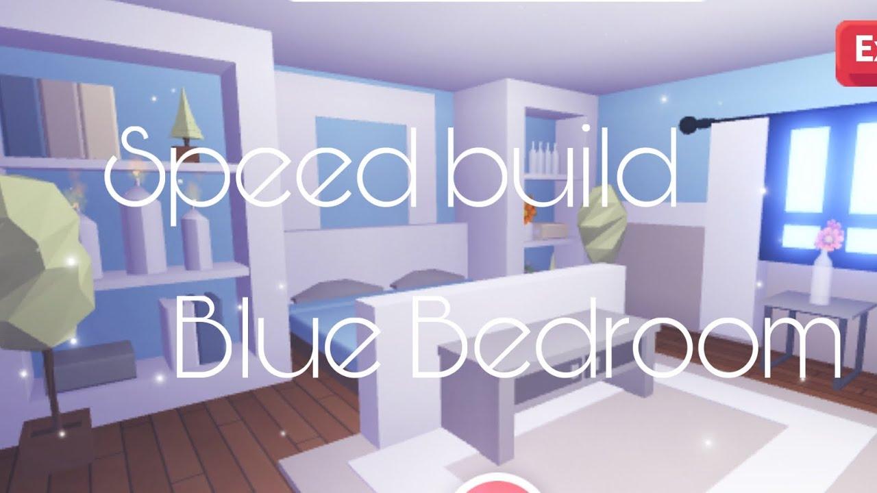 Adopt Me Blue Bedroom Speedbuild Youtube