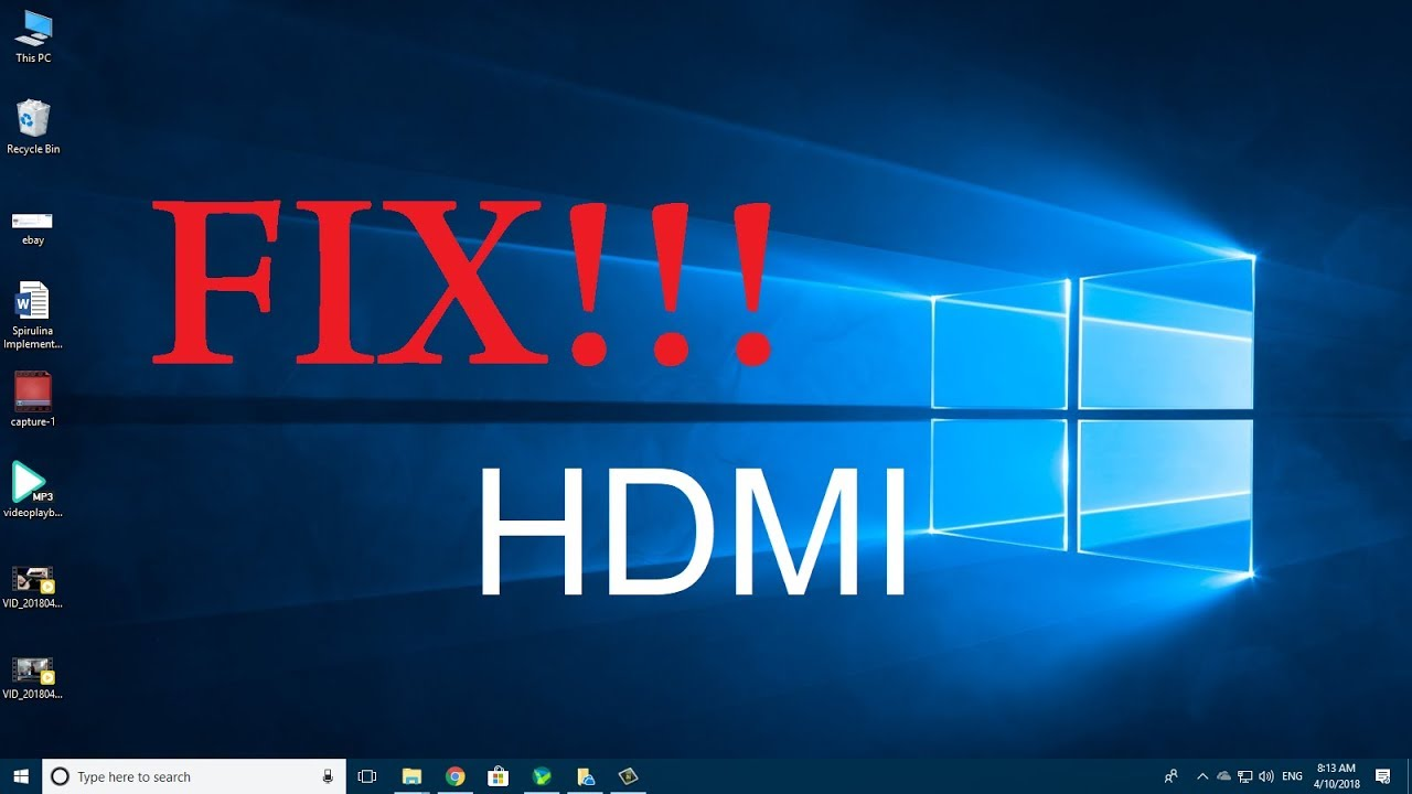 hdmi drivers for windows 10 free download