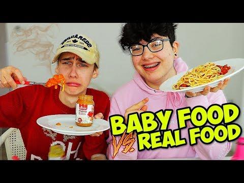 BABY FOOD VS REAL FOOD CHALLENGE!