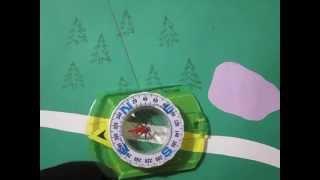 Азимут. Как  пользоваться  компасом ,  чтобы выйти из леса.
