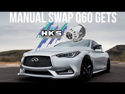 Worlds First Manual Swap Infiniti Q60 Gets HKS Blow Off Valves