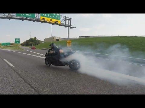 Motorcycle DRIFT Bike DRIFTING Suzuki GSXR 1000 STUNTS Highway DRIFTS ROC Ride Of The Century 2016