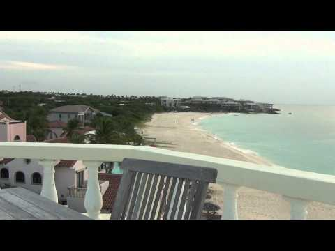 Meads bay beach viewed on top of Turtle Nest hotel in Anguilla video 2