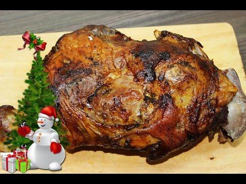 Запеченная баранья нога / Roasted leg of lamb
