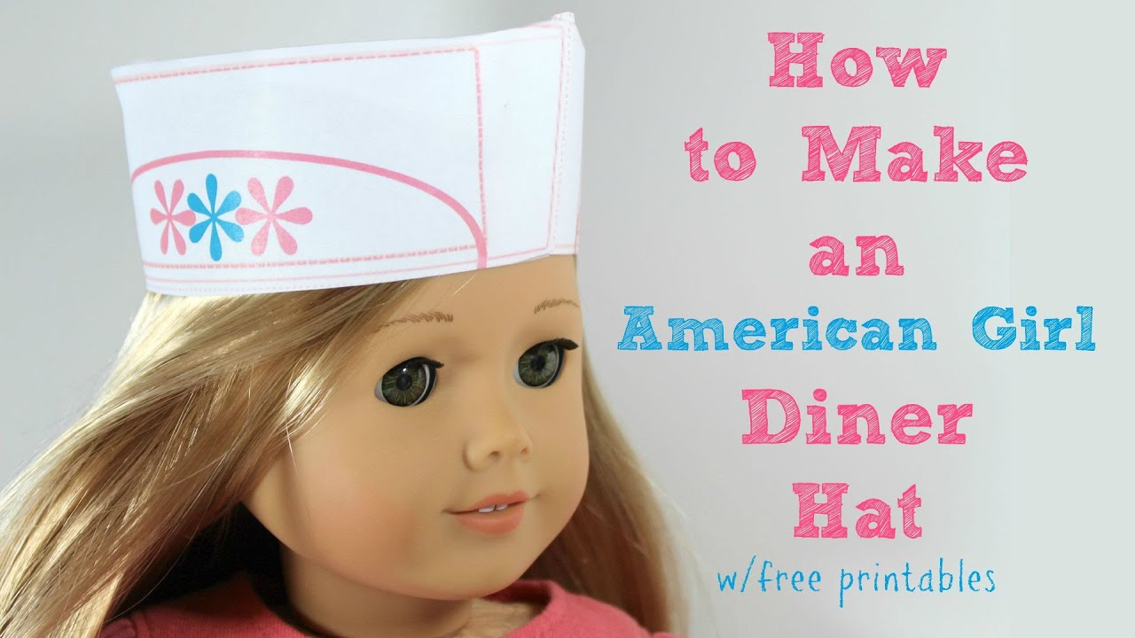 how to make american girl doll food out of paper
