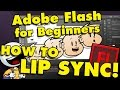 Adobe Flash/Adobe Animate How To Add Sound & Make a Talking Cartoon (Part 4)