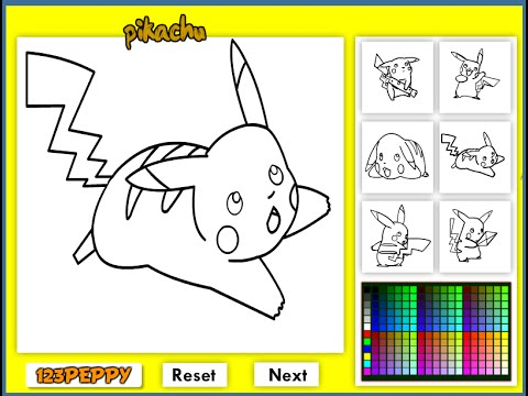 Pokemon Coloring Pages For Kids - YouTube