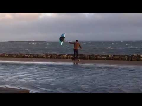 Hurricane Ophelia Causes Large Swell at Salthill in Galway