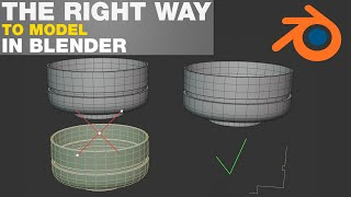 The right way to model in blender - Blender 2.8